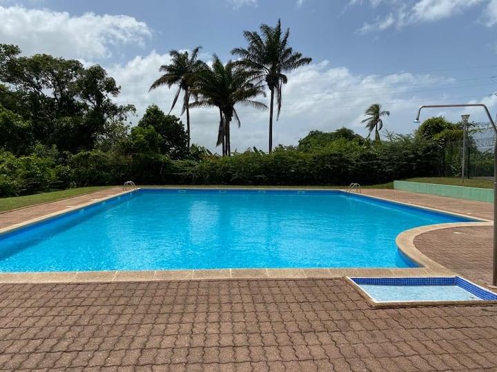 Grand T1 bis dans résidence sécurisée avec piscine