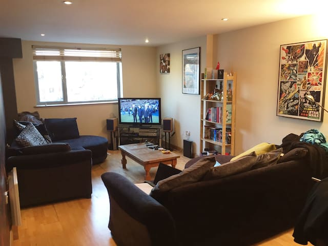 Room in Large 2-Bed Flat with Private Roof Terrace