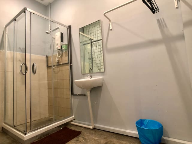 Private Hot Shower for more privacy