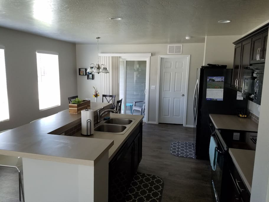 Shared Kitchen into dining area