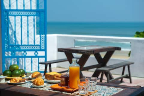 boutique hotel with quite space and private beach