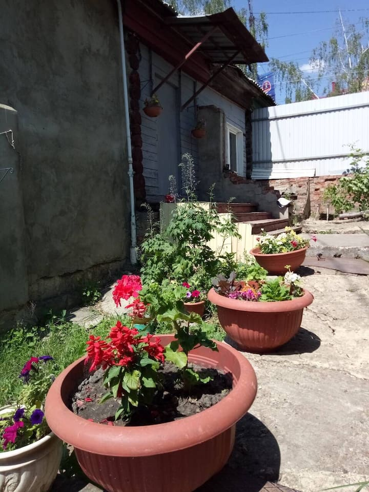 Private house in city center with 2rooms+garden
