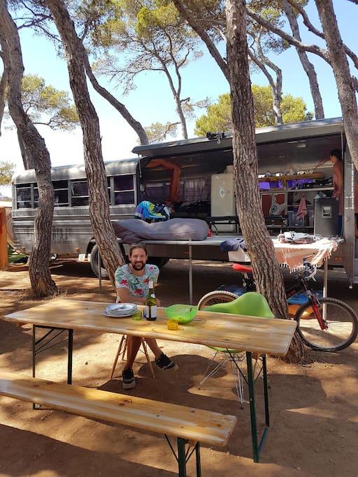 installed at our fantastic space at camping la playa