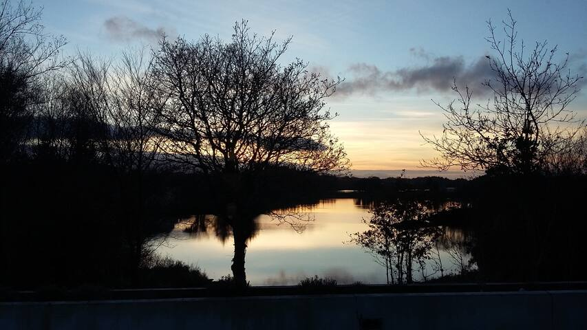 Twin Room in Idyllic Lake front house - Ballyshannon - House