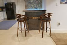 Bar top seating for 2