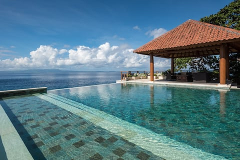 Infinity Pool cascading into the ocean