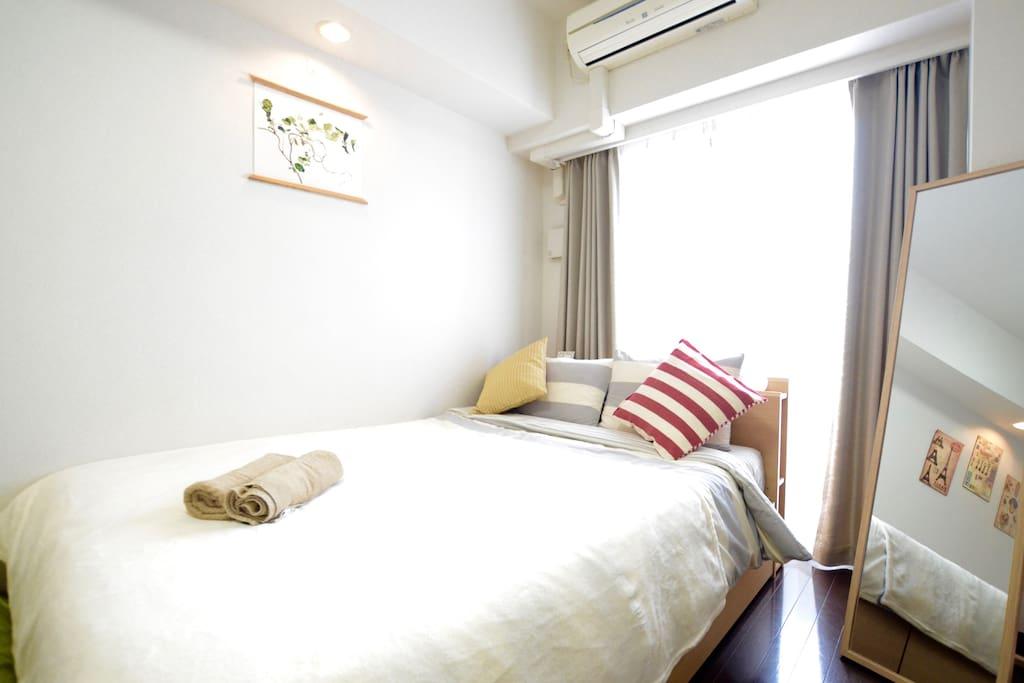 Super comfy double bed