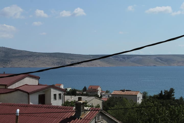 Studio flat with balcony and sea view Starigrad, Paklenica (AS-6563-a)