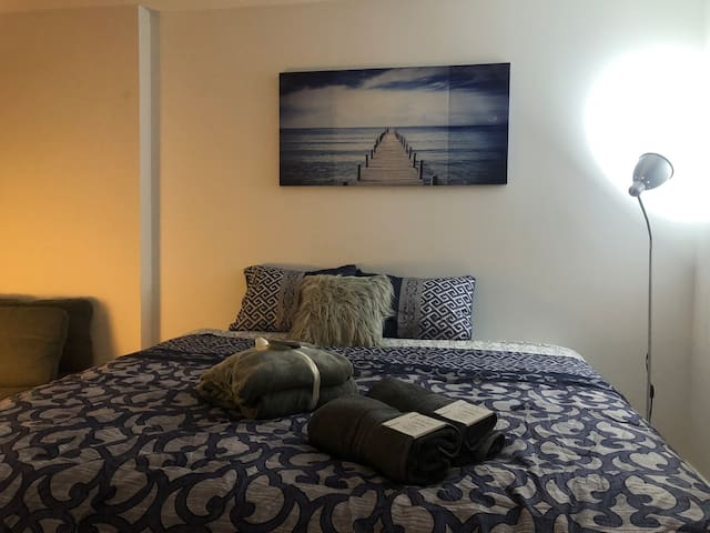 Entire Unit with king size bed T.O + FREE Parking
