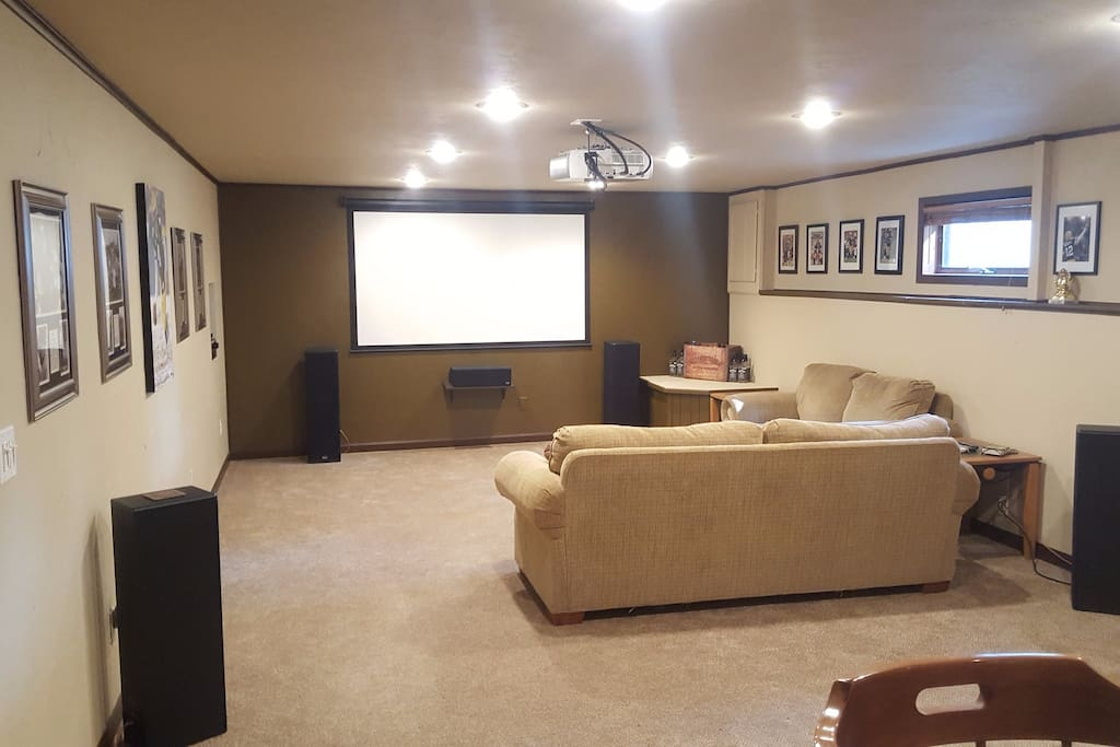 Entertainment Area with HD projector TV