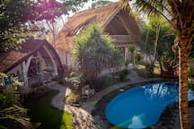 Pool side Bungalow, 2 Bedroom Villa and shared swimming pool at Villa Nangka