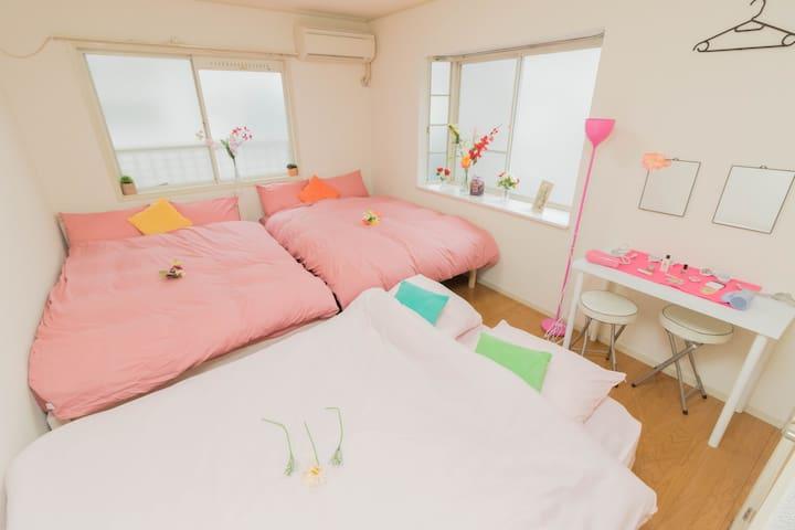 SHINJUKU♪2min from Sta♪wifi♪max6ppl - Nakano-ku - Appartement