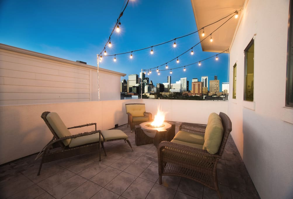 Rooftop Patio with Fire Pit