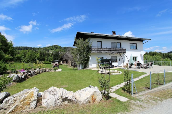 Very spacious and well equipped apartment with garden and farm animals