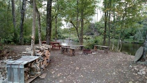 Quiet stream side tent site