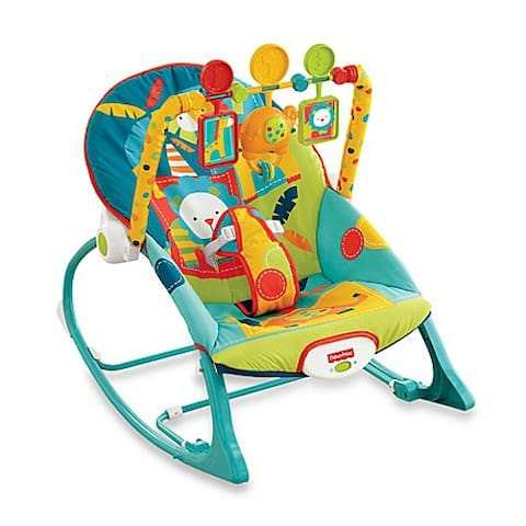We have a Fisher-Price Infant to toddler rocker available.  Ask us to get it out for you.
