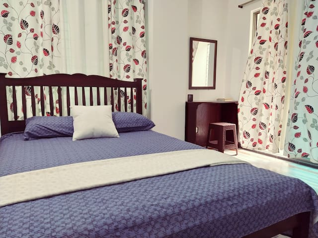 Bedroom one with serene beauty.