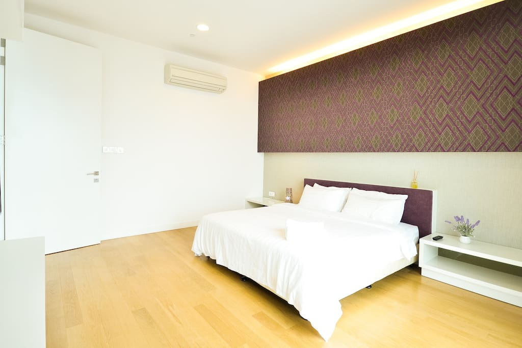 King Size Bed suitable for 2 - 3 pax