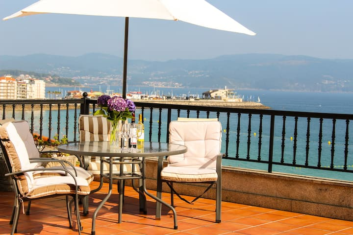 Sanxenxo Playa: Amazing views 170m2 & 35m2 terrace