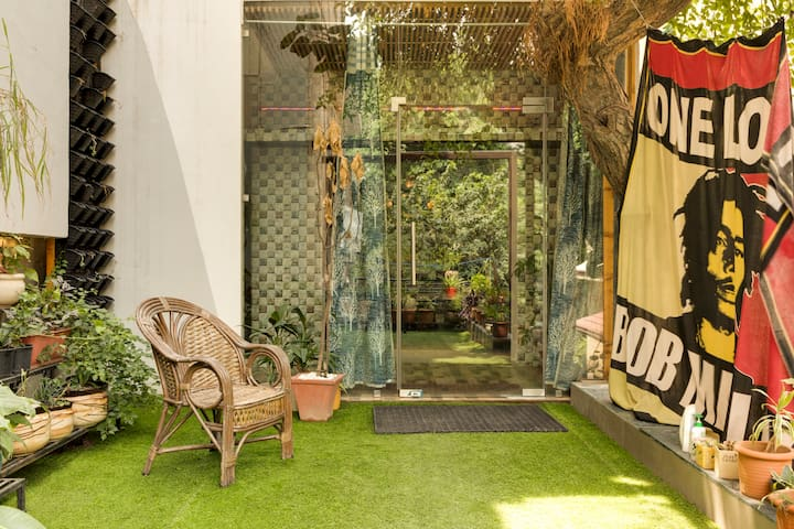 green living  studio apartment in south Delhi | GK