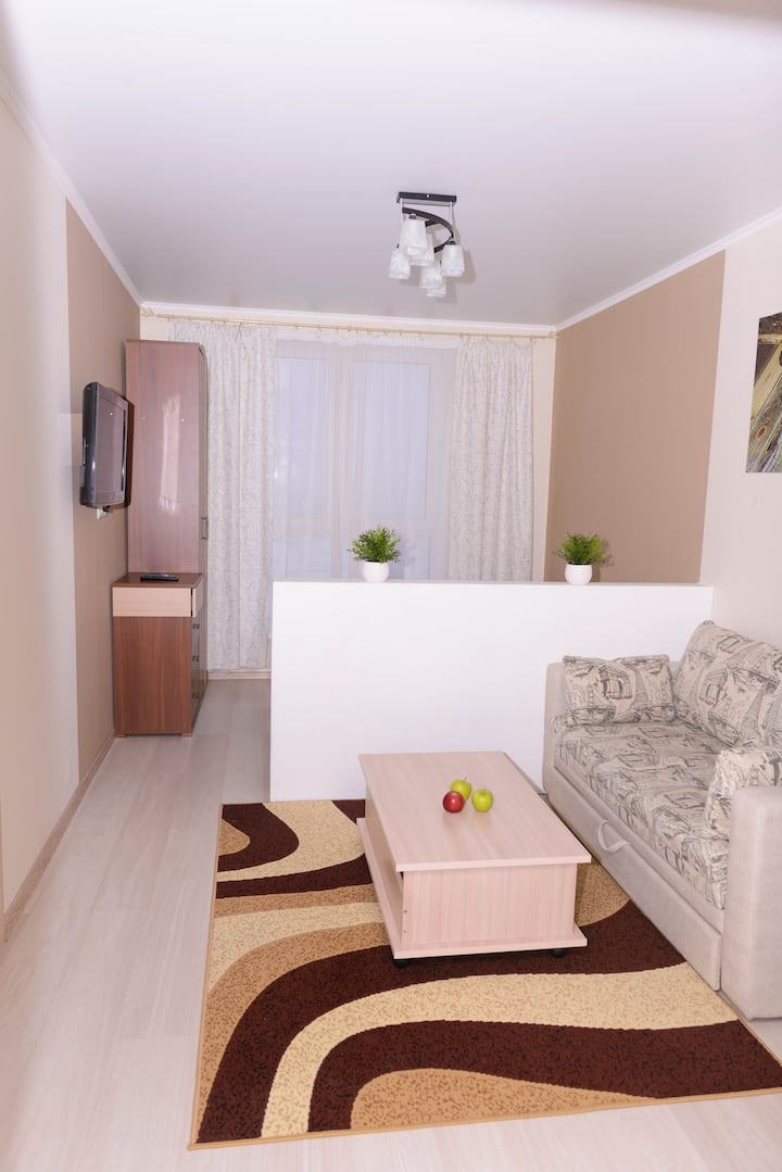 Уютная квартира в новом районе ждет своих гостей!