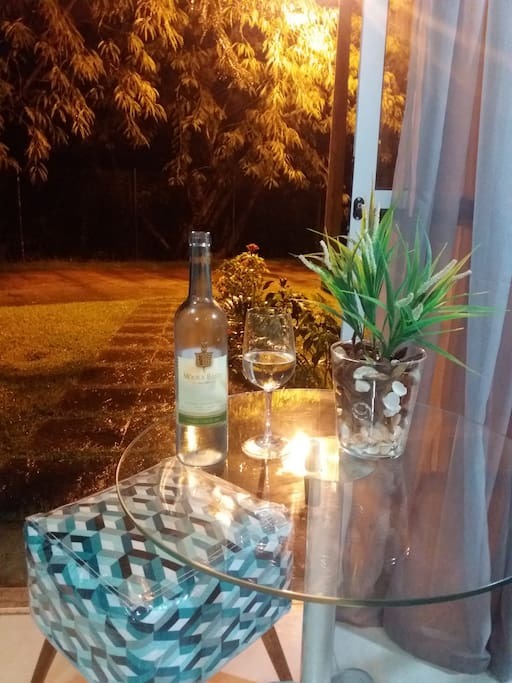 Clima perfeito para um vinho!