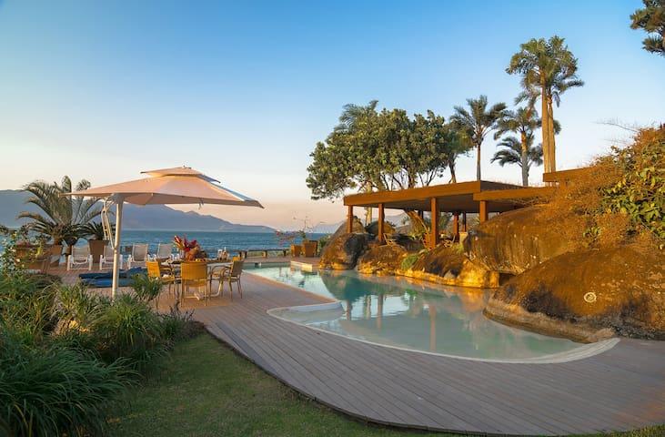 Luxury Ocean Front Beach House in Ilhabela