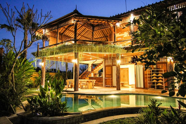 Ubud 3BR Rice Field Dream House - Ubud - Talo