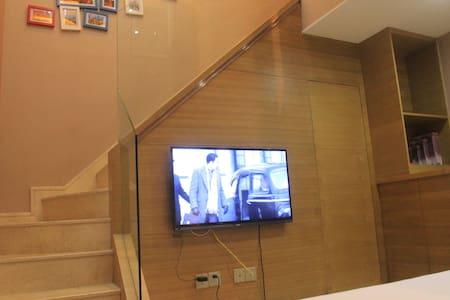 西湖一桥之隔临近宋城美食街loft复式双床双卫田园房 - Hangzhou
