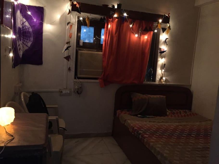 Room lit