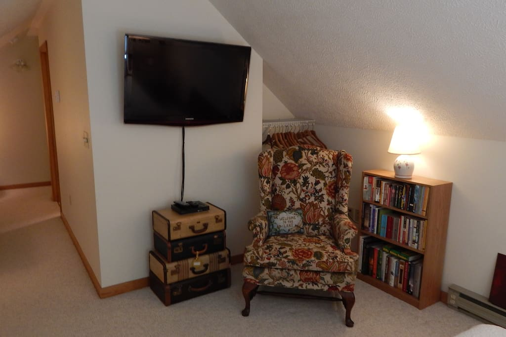A Reading Nook and Big TV