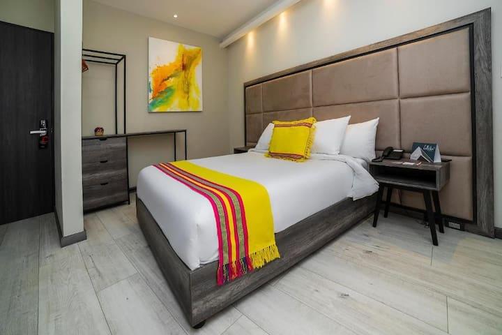Impecable habitación sanitizada w/gym & amenities