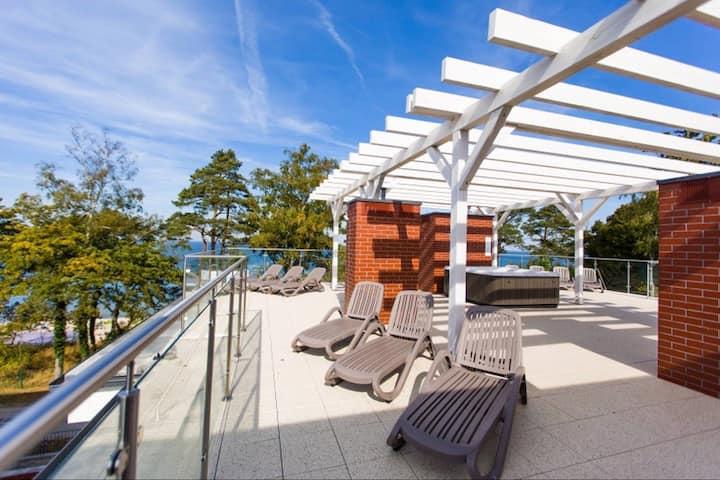 Apartament BD Premium II Klifowa widok na morze