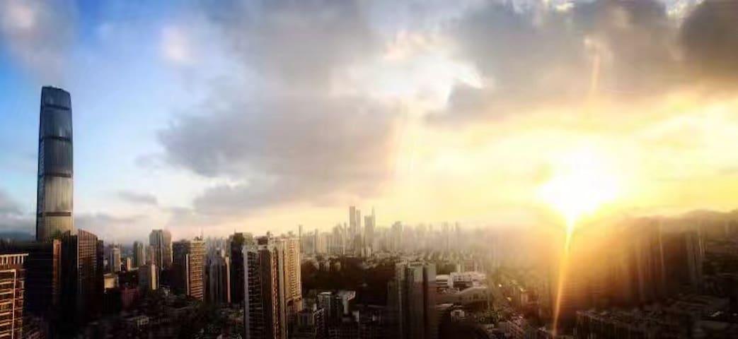 万象城大剧院地铁站-kkmall夜景豪华套房 - Shenzhen - Apartamento