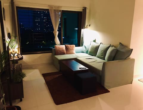 View the city from a cosy nest in Goregaon east