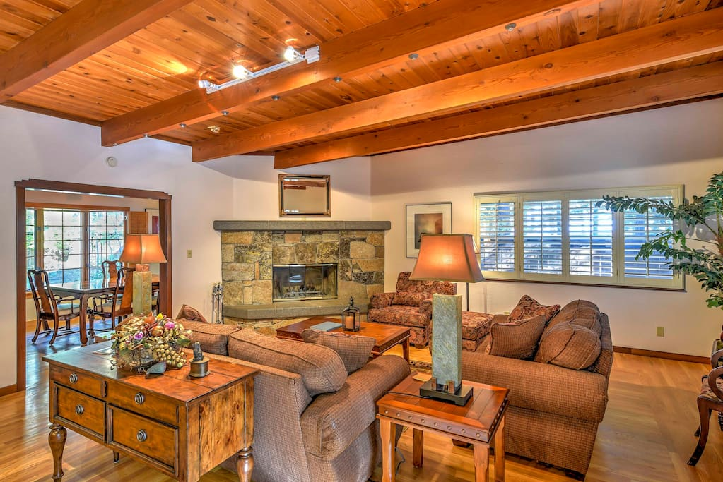 Make yourself at home in this spectacular 3,000 Sq Ft home, quietly nestled in the woods of the secluded Lake Forest area of Tahoe City.