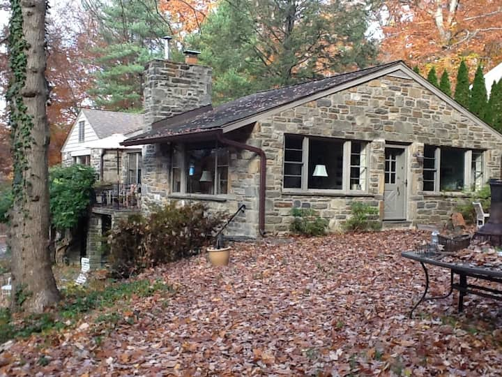 Stone House Surrounded by Woods in Haverford