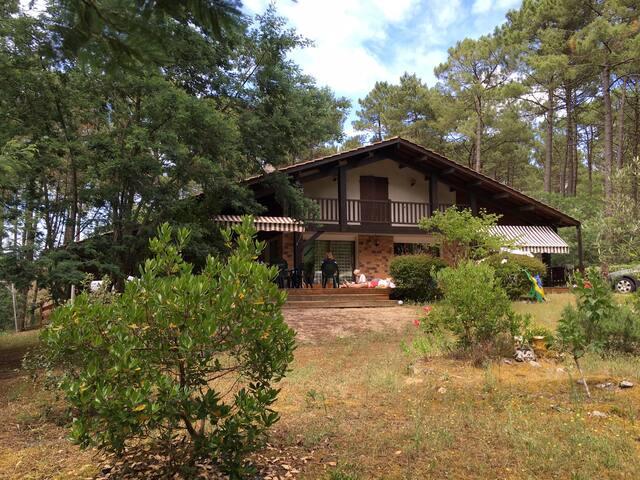 maison familiale avec piscine entre lac et océan - Carcans - Haus