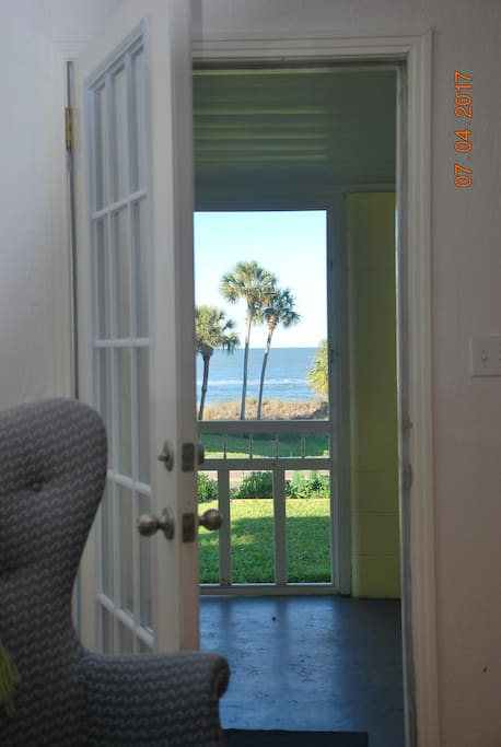 Enjoy the gorgeous views of the Gulf of Mexico from every room, especially the front screened in porch.