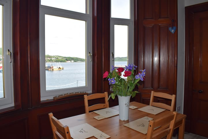The dining table and the view