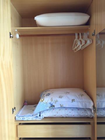 Roupa de cama do segundo quarto