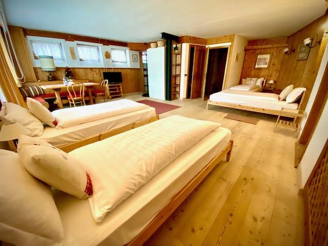 Camera 4 letti +ang cucina/bagno all'interno Villa