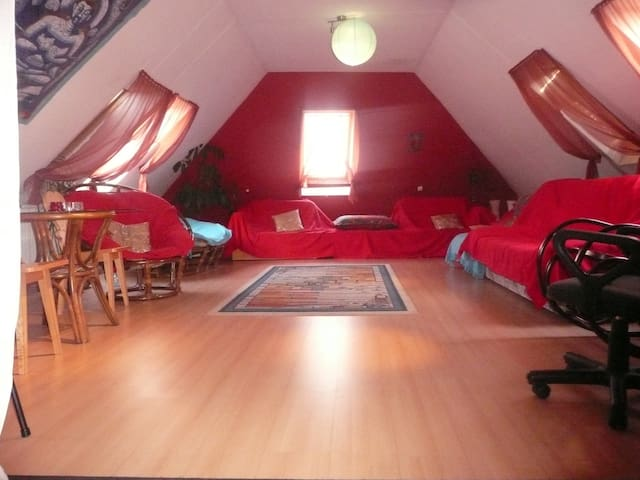 studio / loft apartment near the city center - Katowice - Departamento