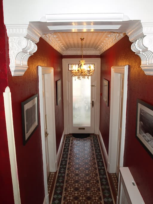 The entrance hallway retains many of its original features.