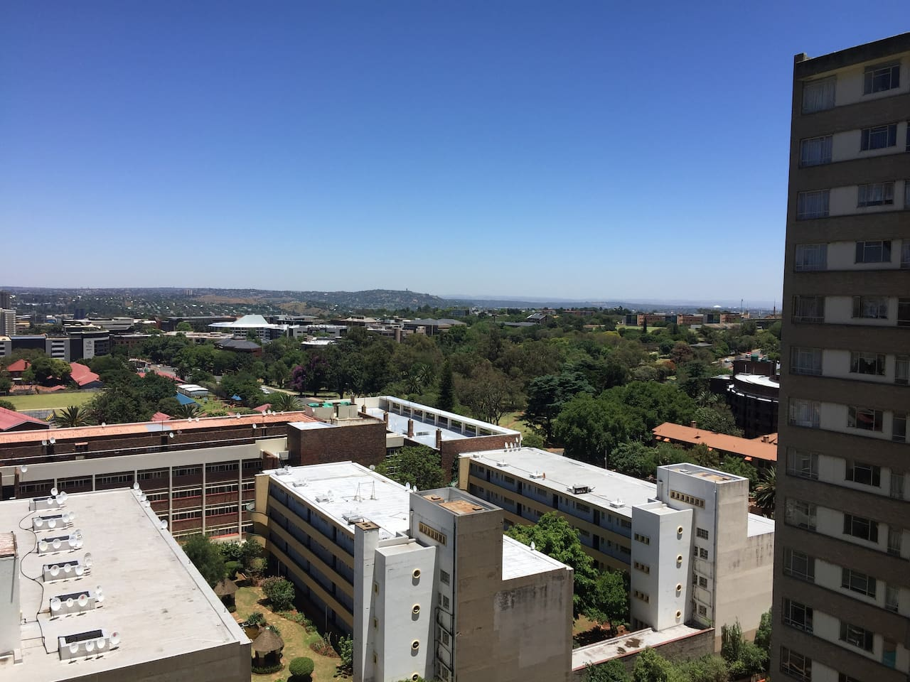 One of the best views in Joburg, off the balcony
