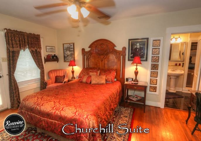 Churchill Room at Rosevine BnB
