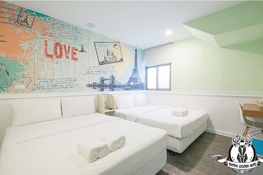 豪華標準有窗雙人房-兩大床-獨立衛浴