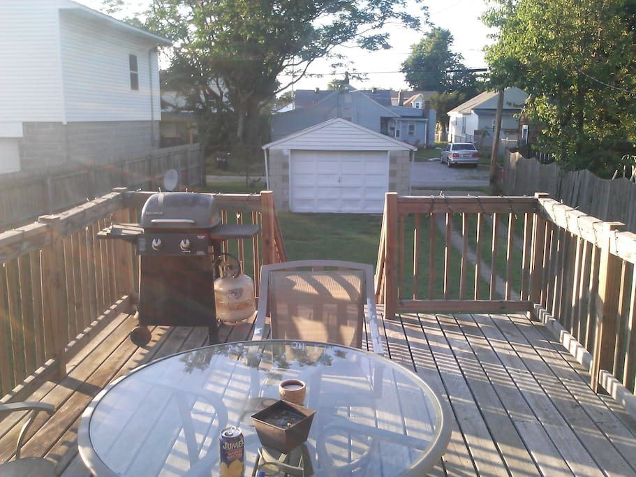 Back deck with grill.