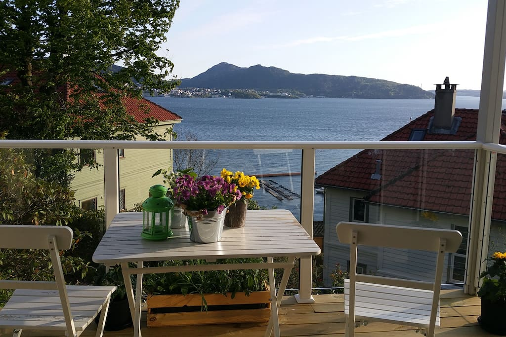The view of the fjord  from my balcony