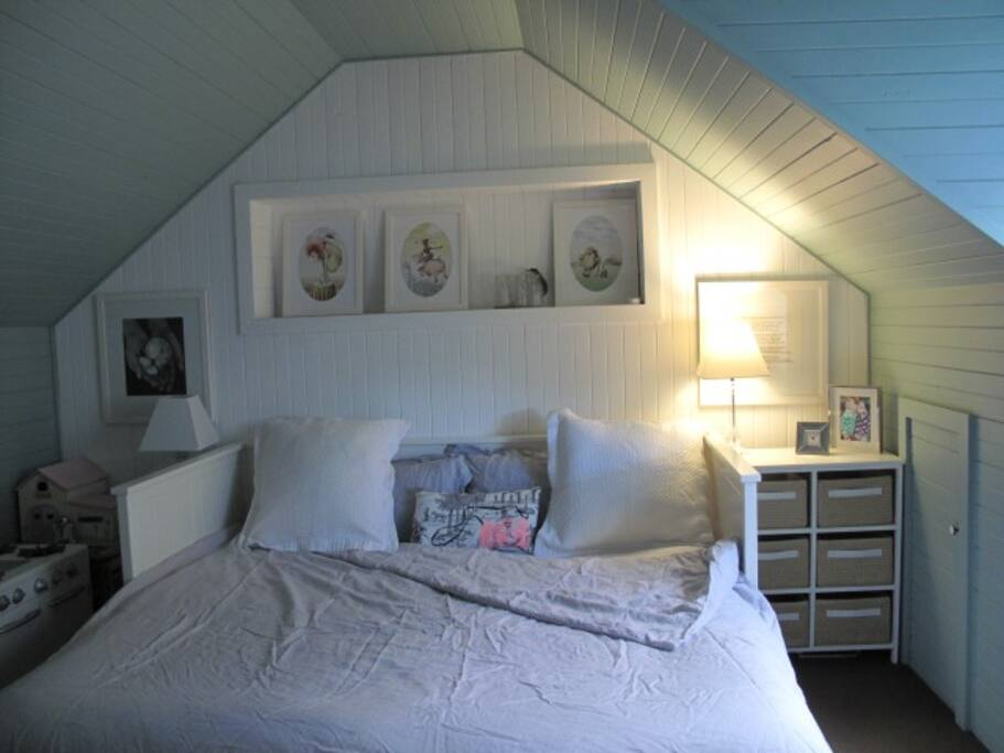 Bedroom 2: Beautiful attic room with fan
